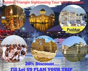7Night 8Day Golden Triangle Sightseeing Tour Package at Un-Beatable Pr