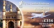 Gulf flights from London-heathrow to hyderabad